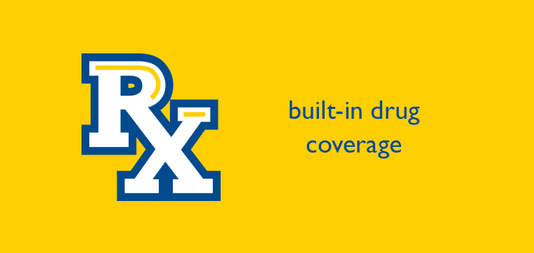 Built-in drug coverage